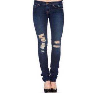 J Brand distressed pencil leg jeans
