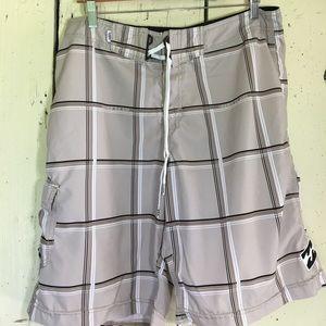 Billabong plaid board shorts