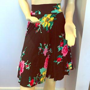 Digital flowers skirt from anthropologie