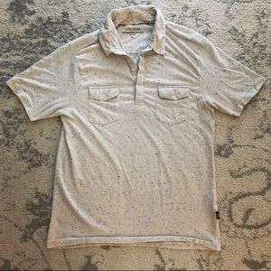 Gray rainbow speckled Men's polo shirt