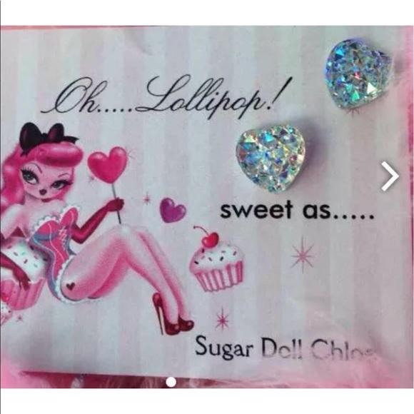 75f4f9c1eb69d Unicorn glitter heart mermaid earrings oh Lollipop Boutique
