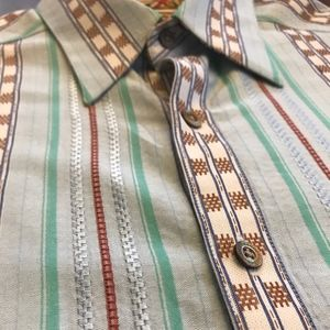 Robert Graham High End Striped Shirt Men's M