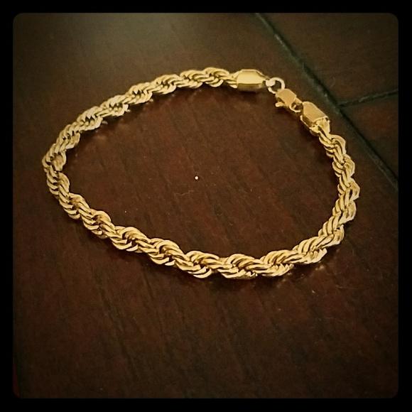 9afe280842c98 14k Gold French Rope Bracelet