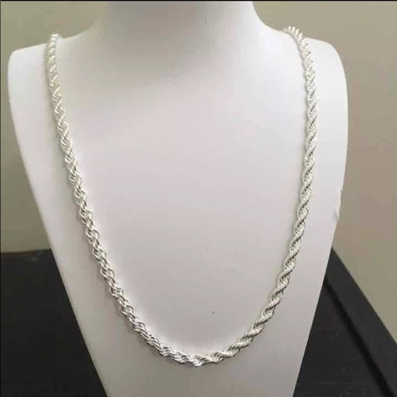 ca455a40d38 Jewelry | Sterling Silver 925 2mm Rope Chain | Poshmark