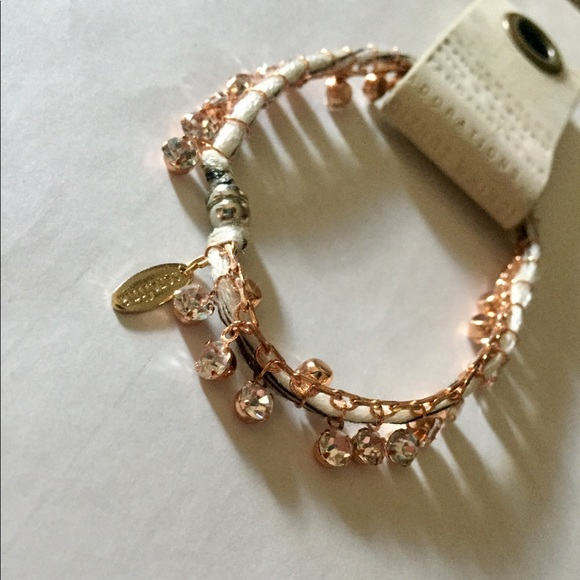 Anthropologie Jewelry - NWT anthropologie rhinestone thread wrap bracelet