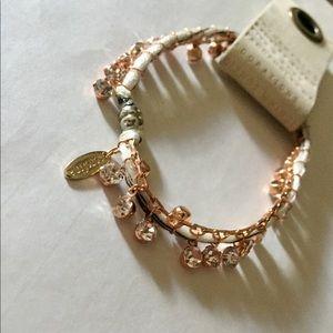 Anthropologie Jewelry - NWT anthropologie rhinestone thread wrap bracelet