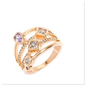 Cubic Zirconia Multi-strand Ring