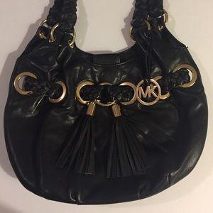 MICHAEL Michael Kors Black Leather Grommet Bag