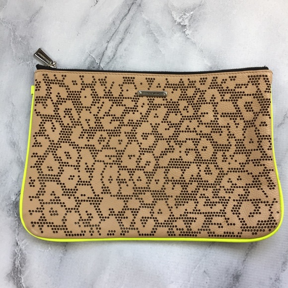 Rebecca Minkoff Handbags - Rebecca Minkoff Tan Perforated Leather Clutch