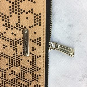 Rebecca Minkoff Bags - Rebecca Minkoff Tan Perforated Leather Clutch