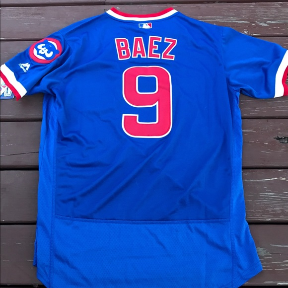 buy online e278b 12054 Men's Javier Baez Cubs 1984 Throwback Jersey (XXL) NWT
