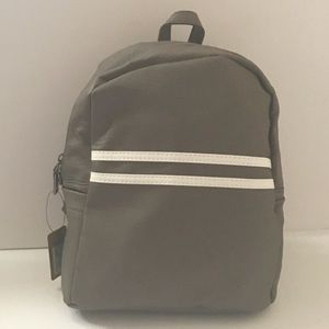Handbags - Gray Athletic Stripe Mini Backpack