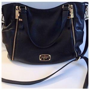FIRM!! Michael Kors Black Leather Bag, Crossbody