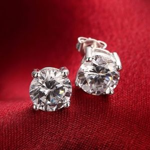 Jewelry - Coming Soon!! 925 Classic Round Crystal Earrings