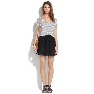 madewell bayfront black eyelet skirt size small