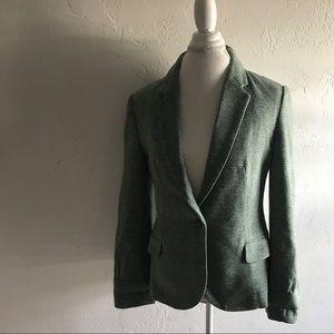 Anthropologie Green Blazer Sz L