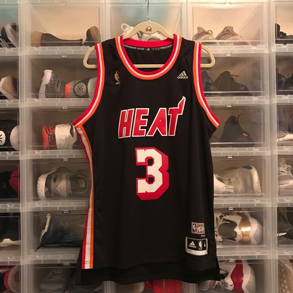 premium selection 1f180 64883 Authentic NBA Miami HEAT Throwback Jersey D Wade