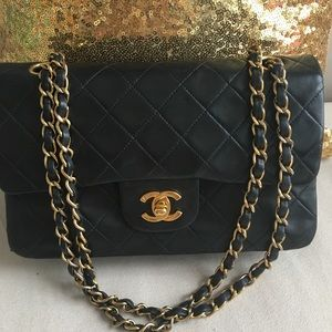 CHANEL Bags - Chanel Small Double Flap Bag in Lambskin Authentic