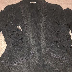Cozy beaded sweater
