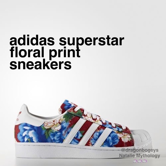 adidas superstar with floral print