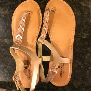 American eagle sandals with braids!