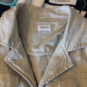 Musto Dresses - Musto Cream Linen Shirtdress