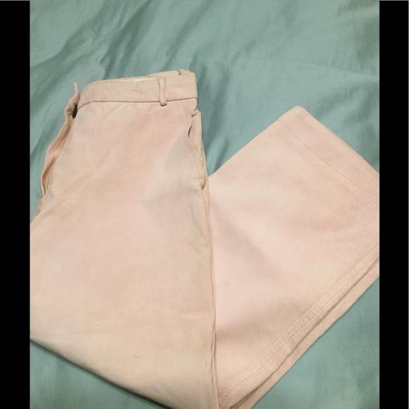 weekend maxmara Pants - NWT suede leather capris .Weekend MaxMara