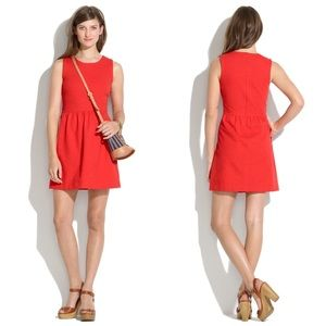 NWT Madewell Afternoon Little Red Sleeveless Dress