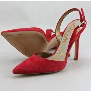 Sam Edelman Dora Red Slingback Heels