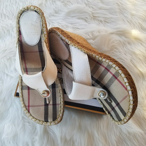 8db401fa1aa4 Burberry Shoes - Burberry Leather Nova Espadrille Wedge Sandals