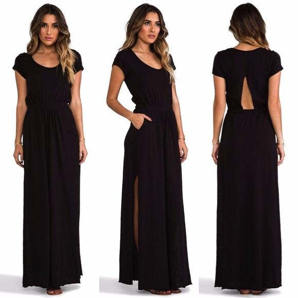 Free people beach black maxi dress