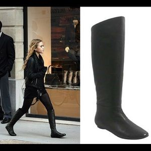 LANVIN Leather Knee-High Flat Boots