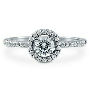 Jewelry - .63CT TW .925 Sterling Silver Engagement Ring