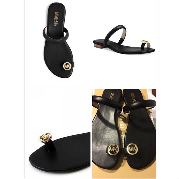 1d3a9197e21663 SOLD⚡ kors Nora Toe Thong flip flop sandals