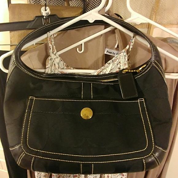 ... authentic black large signature c coach legacy purse 1d559 278e3 4036430c3801b