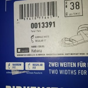 Birkenstock Yara - US 7-7 5 new, tag & box NWT