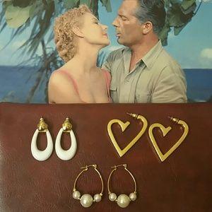 Jewelry - VINTAGE Earrings Set of 3