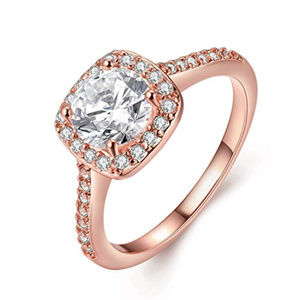 Beautiful 18K Rose Gold Plated Women's Ring