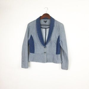I Heart Ronson Jeans - Striped Blue & White Denim Suit Set