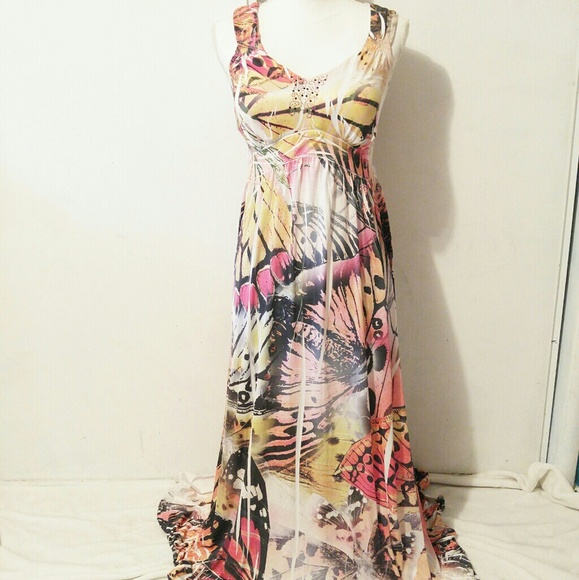 Butterfly Style Maxi Dresses