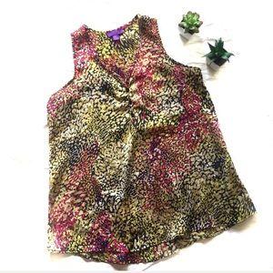 Hale Bob Multicolored Floral Blouse Size Small