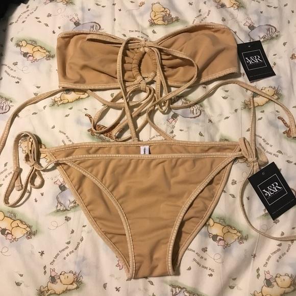 96c6bda5f6 Young & Reckless Swim | Chloe Tie Side Skimpy Bikini Bottom Nude ...