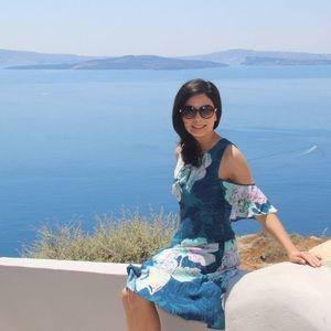 Elia open-shoulder dress