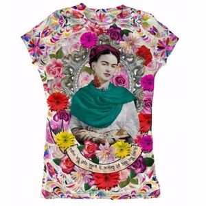 New Frida Kahlo T-Shirt Graphic Tee Mexican Style