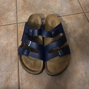 b7bd574d5826 Birkenstock Shoes - Betula by Birkenstock Leo Triple Slide Sandal 38 7