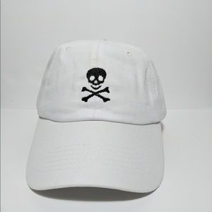Other - Skull embroidered polo dad hat