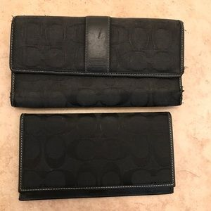 Coach Wallet with check Book Holder