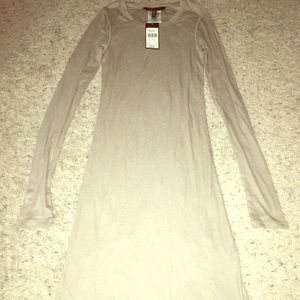 "BCBG Maxazria NWT XS Tan ""Gravel"" fitted dress"