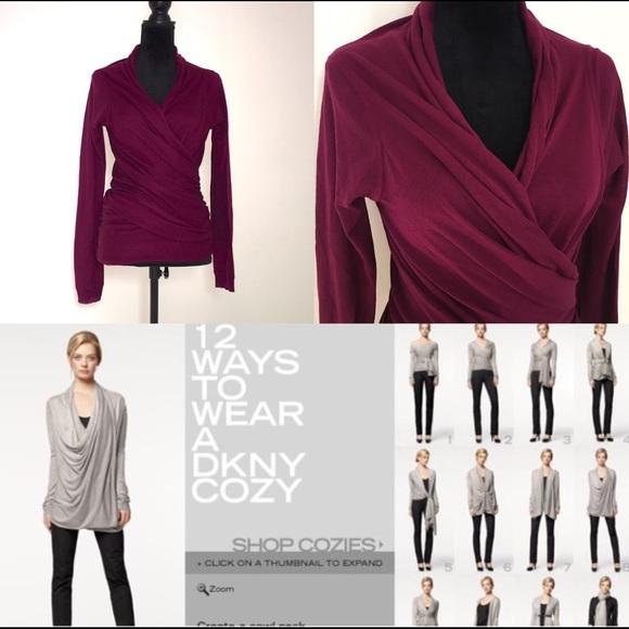 Dkny Sweaters - DKNY Long Sleeve Cozy Wrap b9b56506b