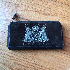 Juicy couture black velvet wallet